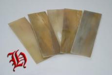 Hornplatte hell 15 x 5 cm