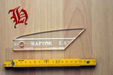 Befiederungs-Schablone Raptor 5,5