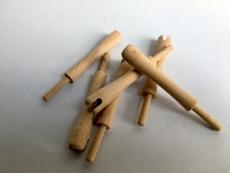 Holznocke Mandschu (6 Stück)