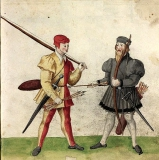Des Ritters Waffen auf Burg Gamburg